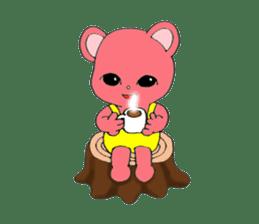 Kawaii PINK  BEAR sticker #3017222
