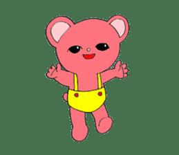 Kawaii PINK  BEAR sticker #3017223