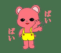 Kawaii PINK  BEAR sticker #3017227