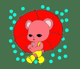 Kawaii PINK  BEAR sticker #3017228