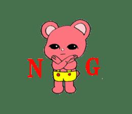 Kawaii PINK  BEAR sticker #3017230