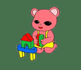 Kawaii PINK  BEAR sticker #3017231