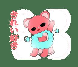 Kawaii PINK  BEAR sticker #3017232