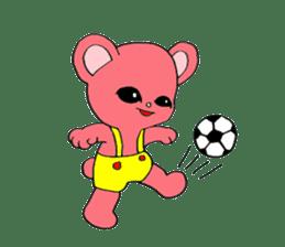 Kawaii PINK  BEAR sticker #3017233