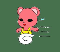 Kawaii PINK  BEAR sticker #3017236