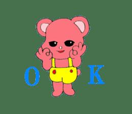Kawaii PINK  BEAR sticker #3017244