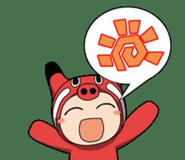 Akabeko-chan sticker #3024909