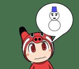 Akabeko-chan sticker #3024912