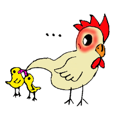 My rooster's stickers-English virsion-