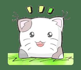 Cushion=cat sticker #3030963