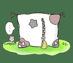 Cushion=cat sticker #3030966