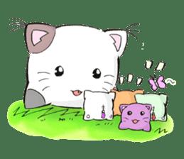 Cushion=cat sticker #3030969
