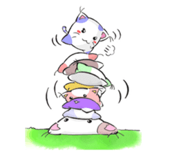 Cushion=cat sticker #3030970