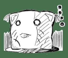 Cushion=cat sticker #3030977