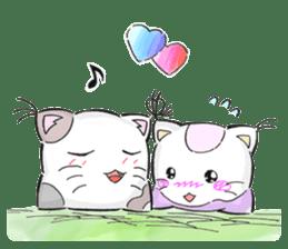 Cushion=cat sticker #3030979