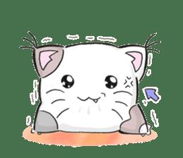 Cushion=cat sticker #3030985
