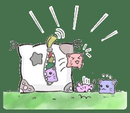 Cushion=cat sticker #3030987