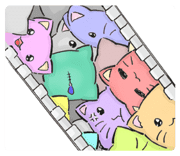 Cushion=cat sticker #3030988