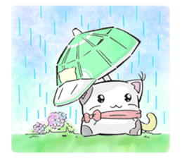 Cushion=cat sticker #3030989