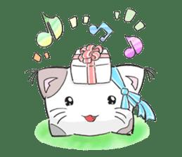 Cushion=cat sticker #3030992
