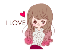 KAWAII PinkGirl sticker #3056499