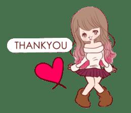 KAWAII PinkGirl sticker #3056500