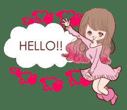 KAWAII PinkGirl sticker #3056501