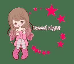 KAWAII PinkGirl sticker #3056503