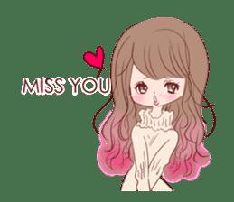 KAWAII PinkGirl sticker #3056505