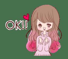KAWAII PinkGirl sticker #3056507