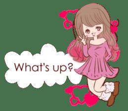 KAWAII PinkGirl sticker #3056508