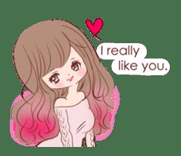 KAWAII PinkGirl sticker #3056510