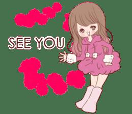 KAWAII PinkGirl sticker #3056514