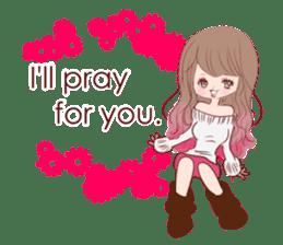 KAWAII PinkGirl sticker #3056516