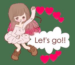 KAWAII PinkGirl sticker #3056519