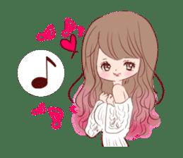 KAWAII PinkGirl sticker #3056520