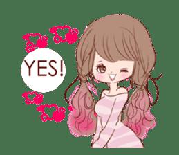 KAWAII PinkGirl sticker #3056521
