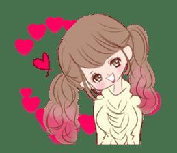 KAWAII PinkGirl sticker #3056523