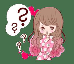 KAWAII PinkGirl sticker #3056526