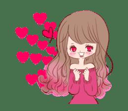 KAWAII PinkGirl sticker #3056531