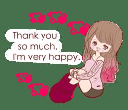 KAWAII PinkGirl sticker #3056533