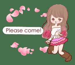KAWAII PinkGirl sticker #3056535