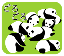 Panda in Kobe sticker #3071274