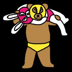 Bear & Rabbit wrestler