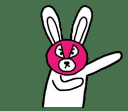 Bear & Rabbit wrestler sticker #3074339