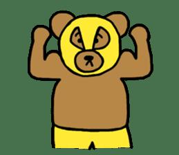 Bear & Rabbit wrestler sticker #3074340