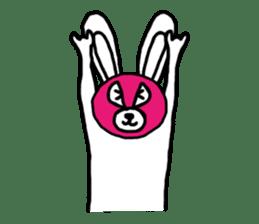 Bear & Rabbit wrestler sticker #3074347