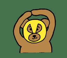 Bear & Rabbit wrestler sticker #3074349