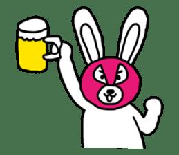 Bear & Rabbit wrestler sticker #3074351