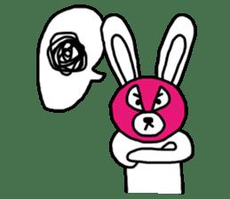 Bear & Rabbit wrestler sticker #3074353